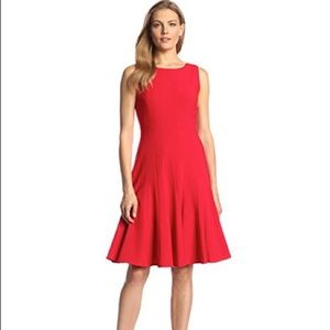Calvin Klein Sleeveless Solid Fit and Flare Dress